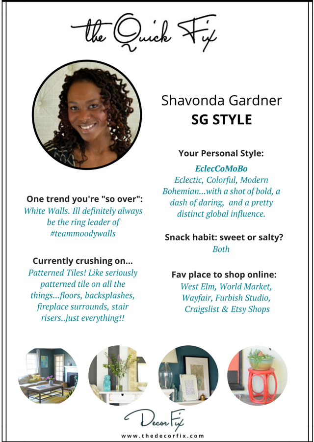 "Decor ""Quick Fix"" with Shavonda Gardner"