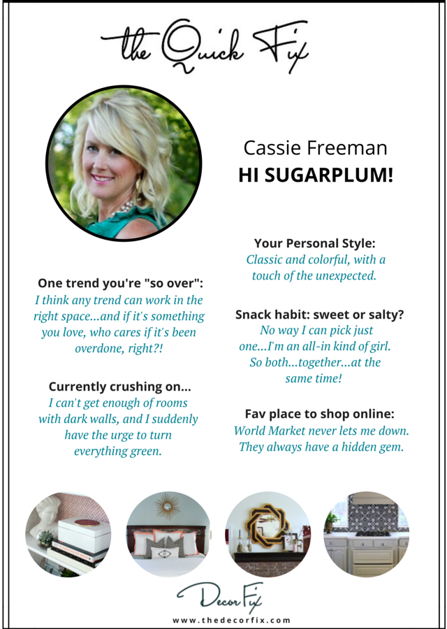 "Cassie Freeman's decor ""Quick Fix"""