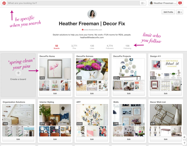 Pinterest Tips |Decor Fix