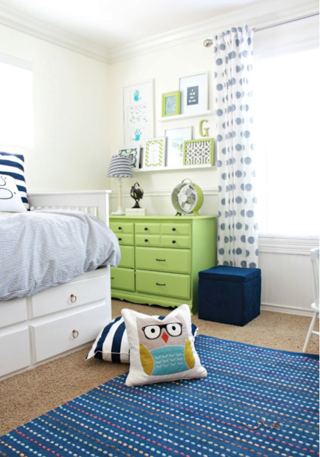 Blue and green little boy's room