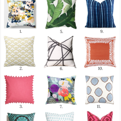 A designer's top 12 sources for throw pillows (from budget-friendly to splurge worthy!)