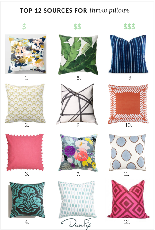 My Top 40 Sources For Great Throw Pillows Classy Coordinating Decorative Pillows