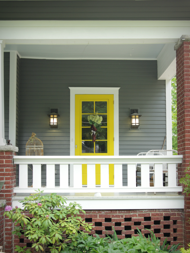 the best paint colors for your front door - Gray Home 2015