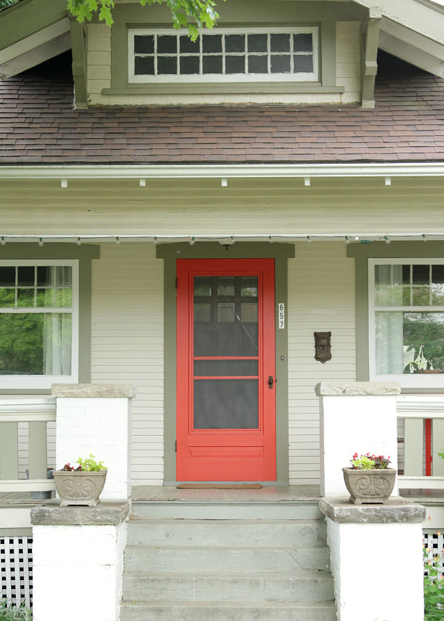 Green siding red door online image Best red for front door