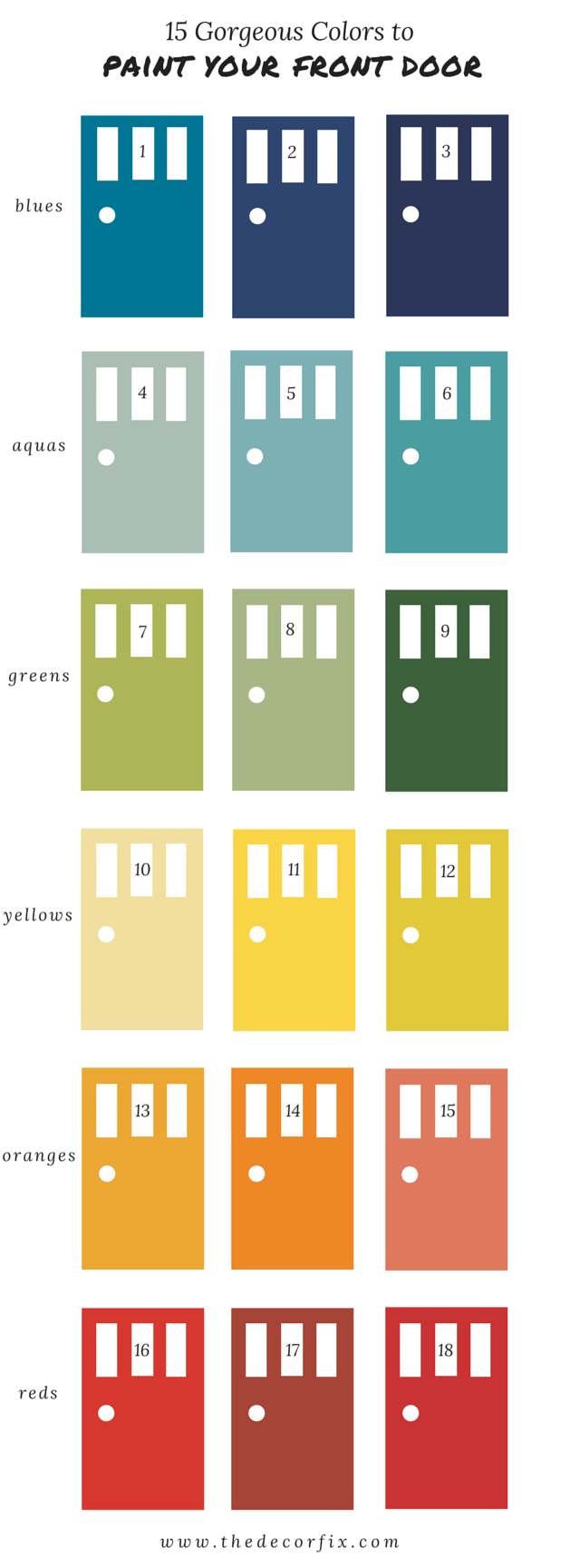 15 Gorgeous Colors To Paint Your Front Door A Designers Tops Picks