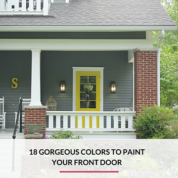 Popular Front Door Colors the best paint colors for your front door