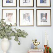 Family timeline gallery wall...a fun idea! |The Decor Fix