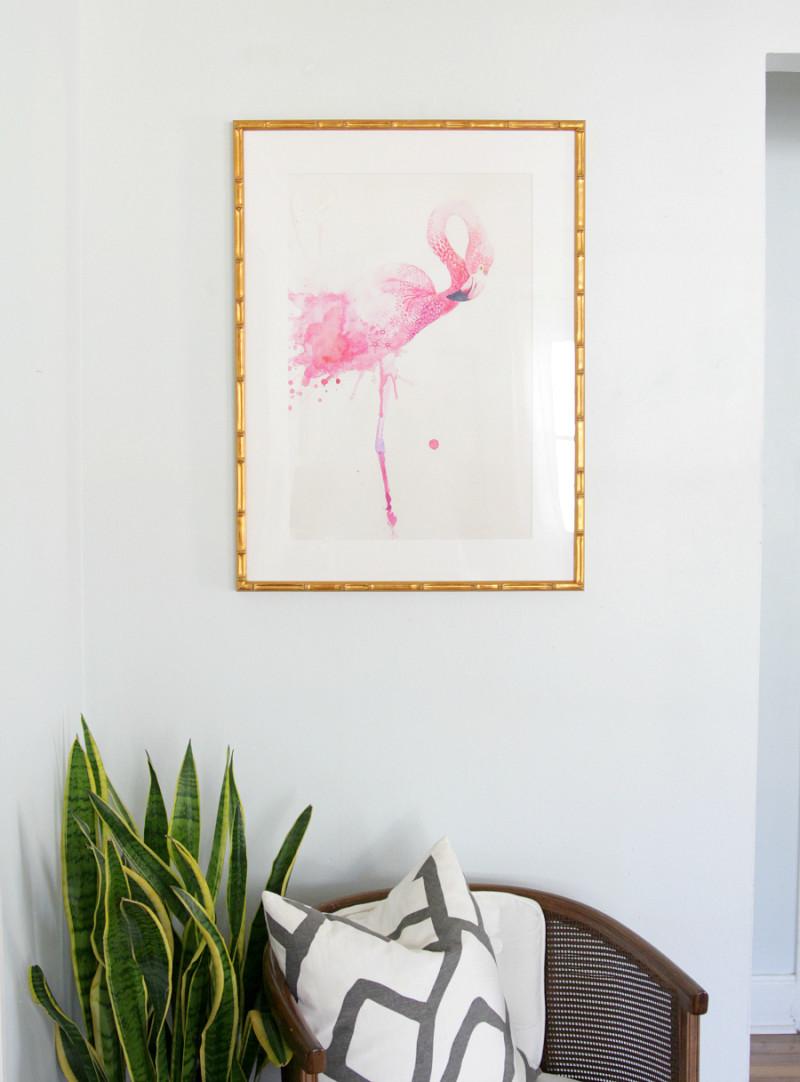 Flamingo art |The Decor Fix