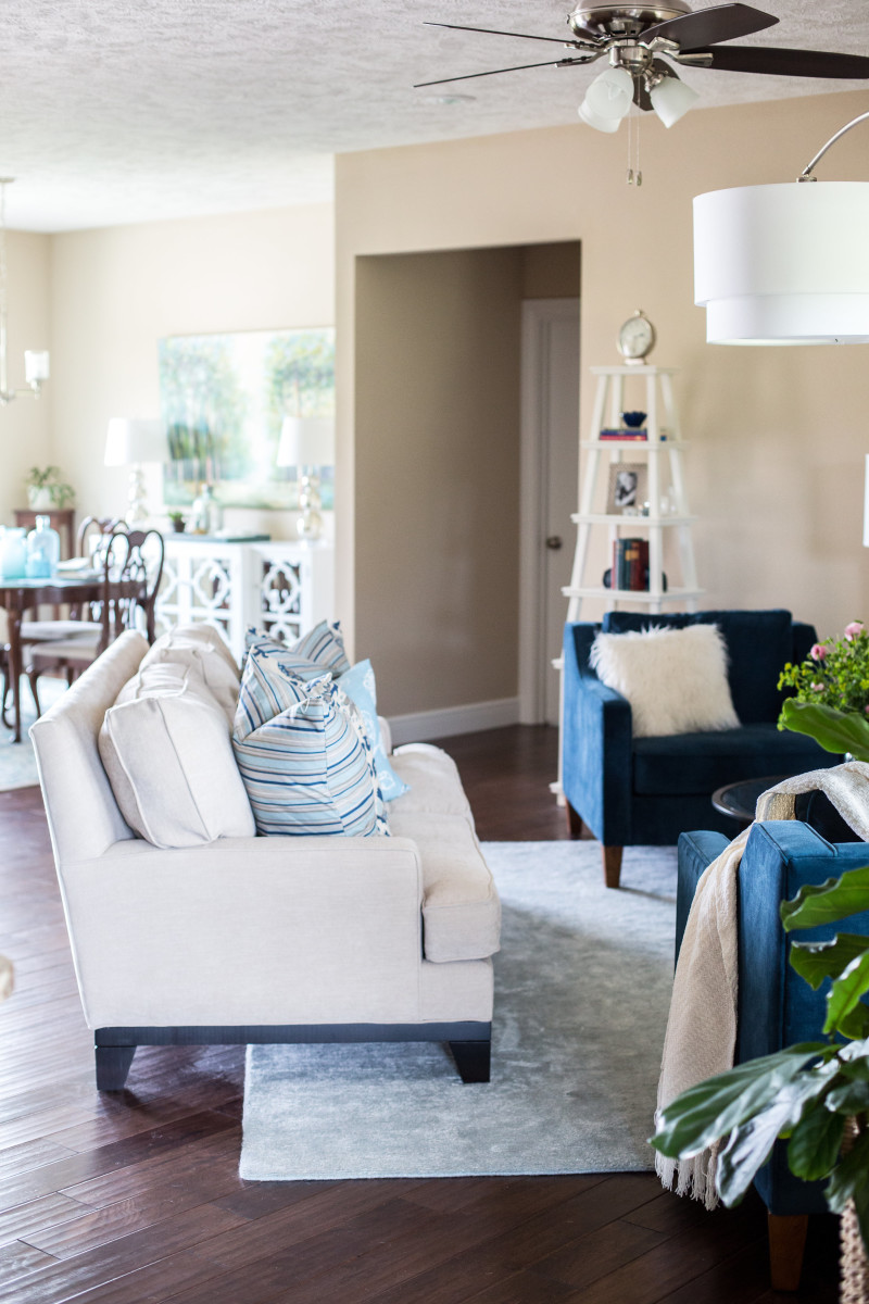 How to decorate a cohesive open concept space | The Decor Fix
