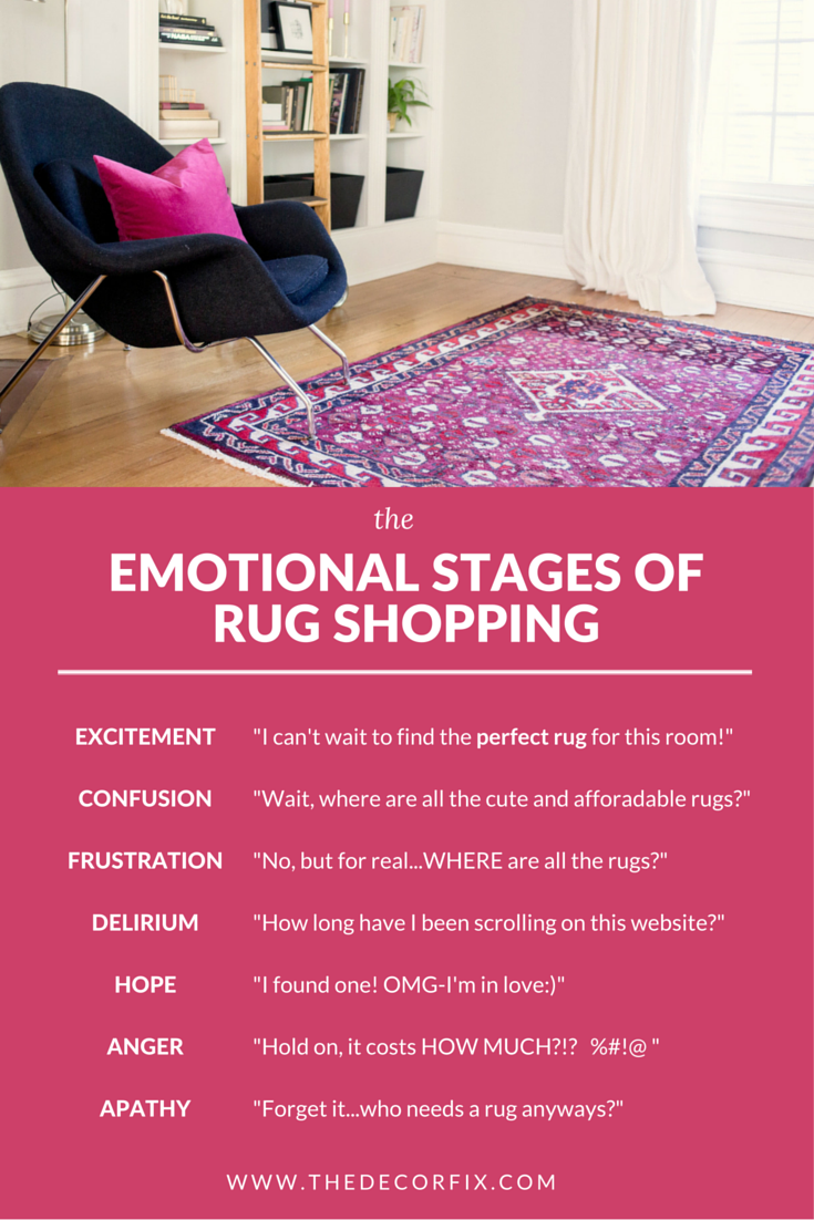 The Emotional Stages of Rug Shopping | The Decor Fix