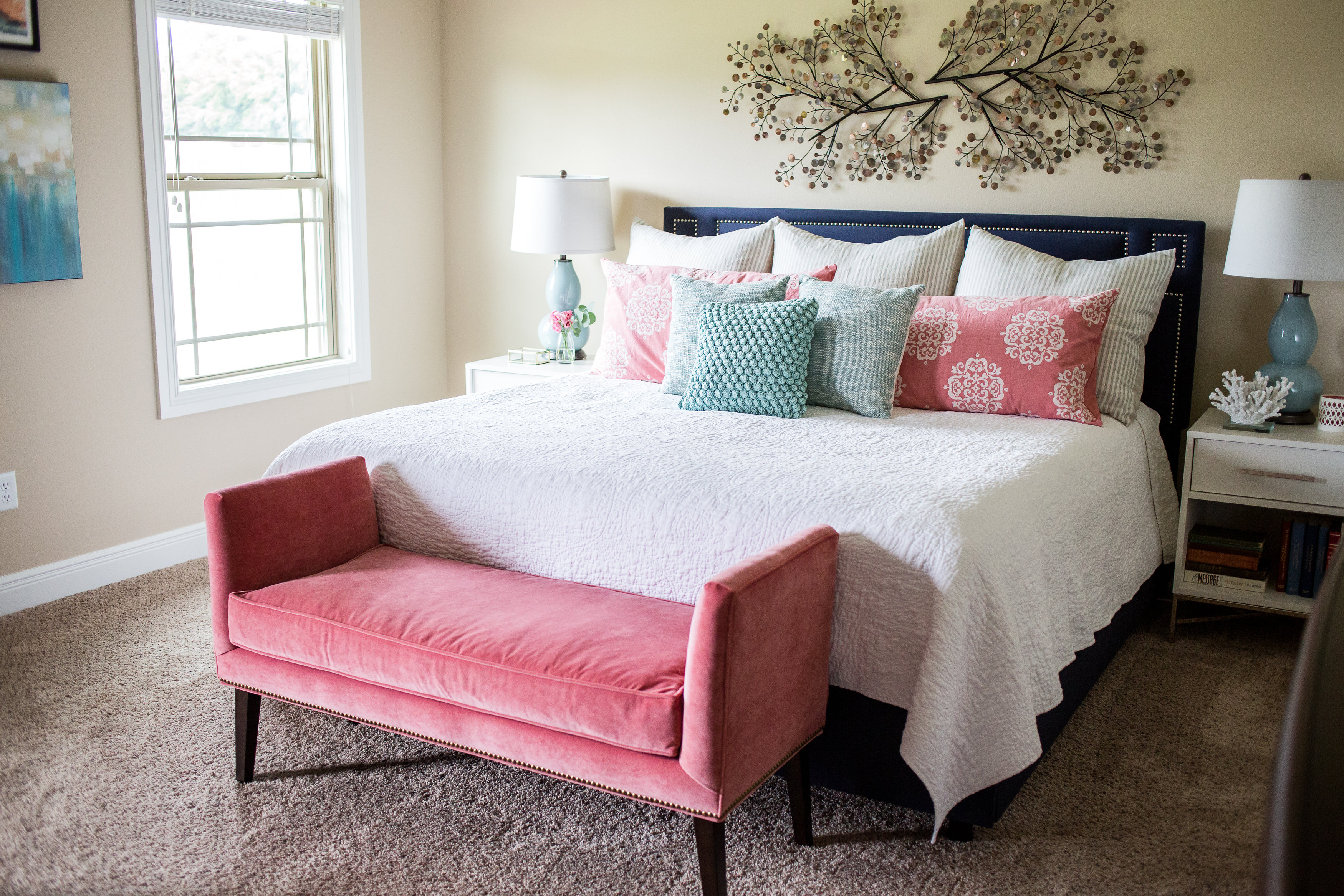 4 tips for a relaxing bedroom and a client project · top 20 over the bed wall art