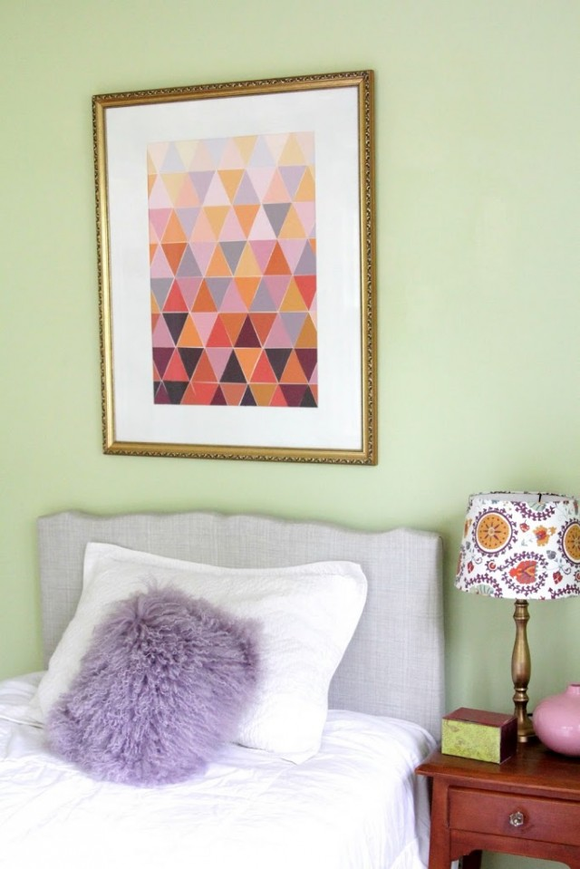 ombre paint chip art