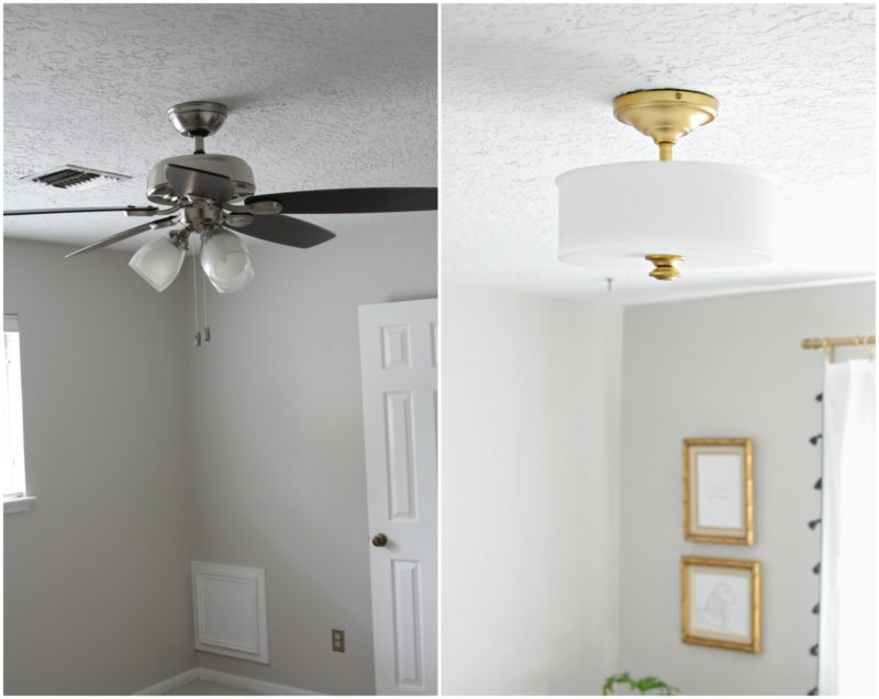 Gorgeous home office makeover the decor fix the perfect light fixture