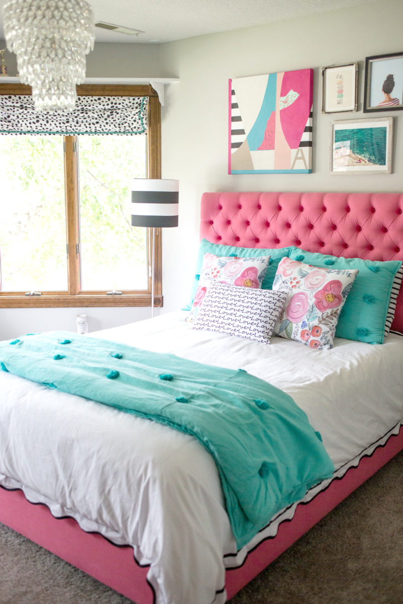 A teen bedroom makeover decor fix for Tween girl room decor
