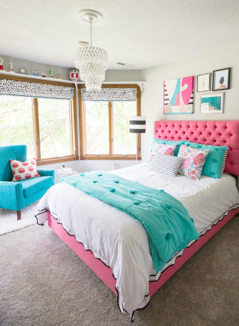 a teen bedroom makeover decor fix